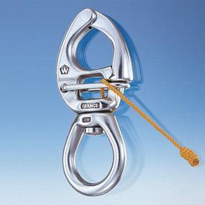Afficher plus d'informations du produit Mousqueton de 90 mm à ouverture sous charge et grand oeil émerillon Wichard