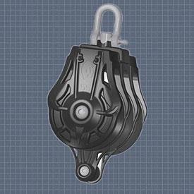 Afficher plus d'informations du produit Poulie triple émerillon manille ringot réa 45 Wichard