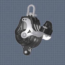 Afficher plus d'informations du produit Poulie triple émerillon manille ringot taquet coinceur réa 55 Wichard